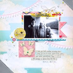 Layout by Nathalie with the June 2013 kits from Citrus Twist