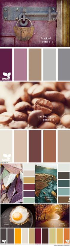 Beautiful palette for an outfit with each color somewhere! Pantone, Color Trends, Color Combos, Paint Combinations, Beautiful Color Combinations, Palette Design, Colour Pallette, Color Balance, Design Seeds