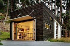 1,250 sq ft studio on San Juan Island, Washington. Designed by Prentiss Architects.
