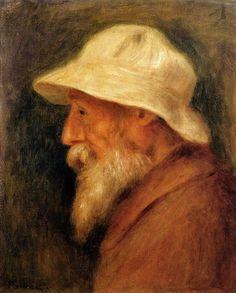 Pierre Auguste Renoir 1910 Self Portrait with a White Hat