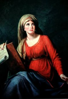 "Vigee Le Brun ART Page 27	Lady Hamilton as the Persian Sibyl - 1792  oil on canvas, 54-5/8"" x 39-3/4"" This was Vigee Le Bruns favorite painting and she carried it with her throughout Europe. A bust-length copy by Vigee Le Brun exists. Other painted copies by her may exist. See her black chalk & brown version (below). Princess Dolgorouky commissioned her portrait to have a very similar pose (also below)."