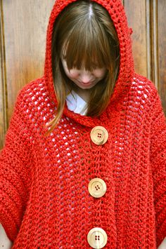 CROCHET PATTERN for The Hooded Poncho
