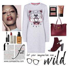"""Let it Run Wild!"" by soniaaicha on Polyvore featuring rag & bone, Kenzo, Bobbi Brown Cosmetics, Ilia, NARS Cosmetics and Giuseppe Zanotti"