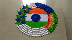 Independence day rangoli designs kolam 15 August by jyoti Source by dimpuuuu Easy Rangoli Designs Diwali, Rangoli Designs Latest, Rangoli Designs Flower, Rangoli Patterns, Rangoli Ideas, Rangoli Designs With Dots, Flower Rangoli, Beautiful Rangoli Designs, Simple Rangoli