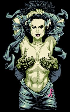 Bride of Frankenstein comic art sexy The Crow, Beetlejuice, Horror Art, Horror Movies, Horror Pics, Horror Decor, Evil Dead, Frankenstein's Monster, Monster Squad