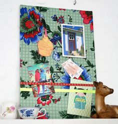 fabric inspiration board--This is so pretty and easy