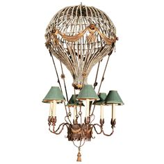 Hot air balloon chandelier perfect for a babys room lighting hot air balloon chandelier perfect for a babys room lighting pinterest traditional crafts and iron chandeliers mozeypictures Images