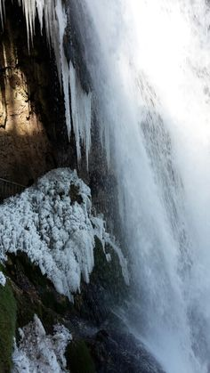 #ice #snow #water #waterfall