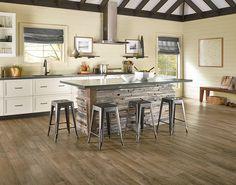 Armstrong Flooring Vivero Better Glue Vintage 6 x 48 x Oak Luxury Vinyl Plank in Fossil Luxury Vinyl Flooring, Luxury Vinyl Tile, Vinyl Plank Flooring, Luxury Vinyl Plank, Wood Flooring, Flooring Ideas, Wood Paneling, Flooring Store, Kitchen Flooring