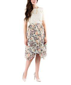 Look at this #zulilyfind! Bouquet Billow Wrap Skirt by DownEast Basics #zulilyfinds