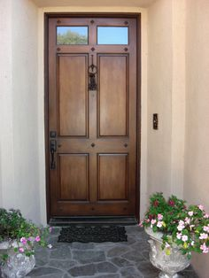 Exterior. Interesting Images Of Front Doors With Absolute Wooden Materials And Twin Glass Transom Also Twin Rectangular Top Panels And Double Bottom Panels Combined Black Hanging Door Knob Featuring Classic Doors Bell Ideas. Marvelous Images Of Front Doors design Very Unique For Your Homes