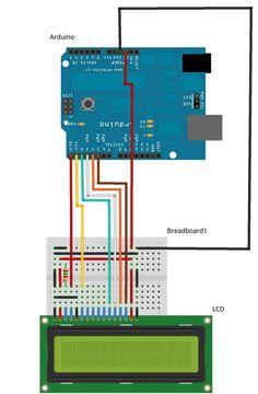 Arduino LCD interfacing diagram