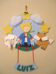 Porta maternidade O Pequeno Príncipe #artesanato #eva #opequenoprincipe