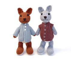 Kangaroo and Joey Knitting Pattern por fuzzymitten en Etsy