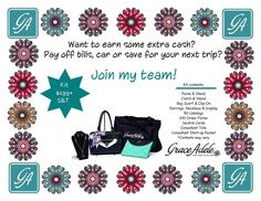 """""""Sign-up Saturdays Nov. 9 and 16"""". This is a fabulous opportunity for anyone who has been thinking of becoming a Grace Adele consultant! If you enroll as a Grace Adele consultant on either of those Saturdays in the U.S. and Canada ($199 USD / $239 CAD), you will receive an Enhanced Starter Kit - which means you will receive AN ADDITIONAL BAG & CLUTCH FROM THE CURRENT CATALOG FOR FREE! What do you have to lose????  You, too, can be a part of this amazing SCENTSY FAMILY!!!"""