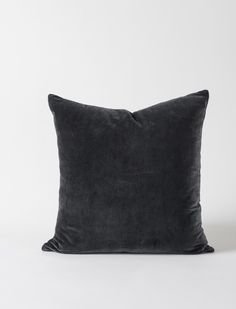 Cushion the chilliest of winter blows with a luxuriously soft short pile Cotton Velvet Cushion Cover in carbon - all the better for curling up on the couch. Velvet Cushions, Cushions On Sofa, Throw Pillows, Couch, Soft Shorts, Cotton Velvet, Quilt Cover, Cushion Covers, Quilts