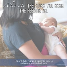 Undercover Mama Blog -Alternate the sides you begin feeding on #breastfeeding #undercovermama