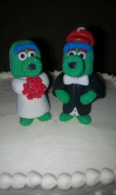 Philly phanatic wedding cake topper.. hopefully the groom will be a philly fan too
