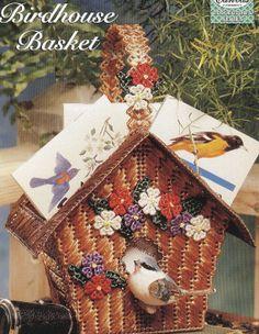 Birdhouse Basket Plastic Canvas Pattern by needlecraftsupershop, $3.50