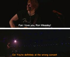 I love these little concert moments, Ed definitely has the best! This cracks me up!!