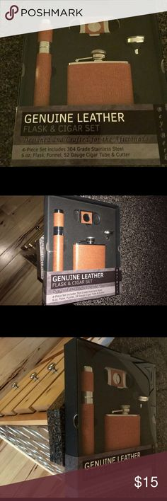 BAY BERK AFICIONADO STAINLESS LEATHER 4PIECE. NWT BAY BERK AFICIONADO STAINLESS LEATHER 4PIECE. NWT SEALED 🤐 BAY BERK Accessories