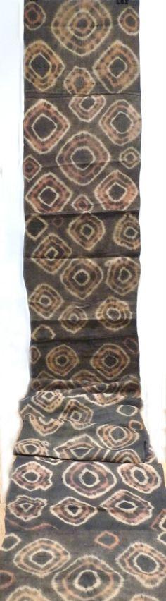 Africa | Textiles  / Africa | Old Kuba Raffia Skirt - tie and dye - Ngongo– DR Congo | Mid 20th century