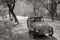 Miskolc, Hungary, Finnish photographer Pentti Sammallahti, an entirely new name to me. It isn't often you find a master photographer - a genuine great - who you have simply never heard of. Black White Photos, Black And White Photography, Monochrome Photography, Helsinki, Artist Grants, Mini Car, Berenice Abbott, Gelatin Silver Print, Famous Photographers