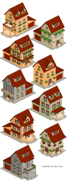 The Illustrations can be edited with the help of Photoshop as this is a file in PSD format. You can download these Pixel Art houses absolutely for free by clicking on Download button at the beginning or in the end of this post. You need to register to download the file. http://vectorboom.com/load/freebies/freevectors/free_pixel_art_isometric_houses/21-1-0-357
