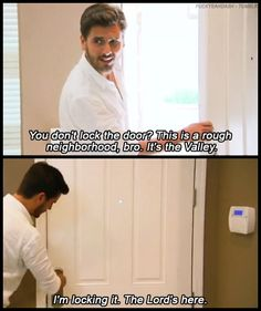 Oh my god.. this is exactly what I say. I don't get why people leave their door unlocked.. crazy dangerous. lol.