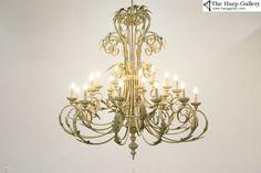 Vintage Light Fixtures, Vintage Lamps, Vintage Lighting, Vintage Crystal Chandelier, Flower Chandelier, Wrought Iron Chandeliers, Victorian Chandeliers, Chandelier Lighting Fixtures, Crackle Painting