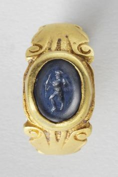 #ROMAN #GOLD #RING WITH CUPID (OR EROS)        DATE:  3rd Century AD  CULTURE:  Roman  CATEGORY:  Jewelry  MEDIUM:  Gold