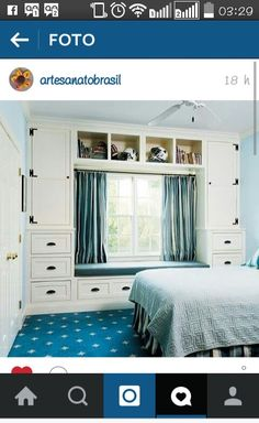 Some interesting small bedroom storage solutions just for you. Use these small bedroom storage ideas to store your stuff. Closet Bedroom, Home Bedroom, Bedroom Decor, Master Bedroom, Warm Bedroom, Modern Bedroom, Trendy Bedroom, Bedroom Colors, Bedroom Couch