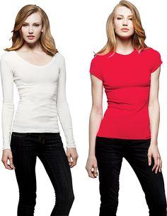 True to Size Apparel - Ladies Kimberley Sheer Rib T-Shirt, $15.00 (http://truetosizeapparel.com/ladies-kimberley-sheer-rib-t-shirt-slim-fit-longer-length/)
