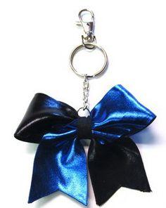 Alternating Specialty Fabric Bow Keychain $3.95