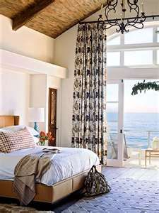 Ocean View Bedroom with Vaulted Ceilings - MyHomeIdeas.com