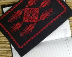Cushion with cross-stitch embroidery by AfnanAlGalil on Etsy