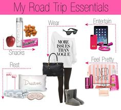 Road Hacks For Getting Home For The Holidays In One Piece A girls road trip must haves. All the essentials you need for a smooth ride.