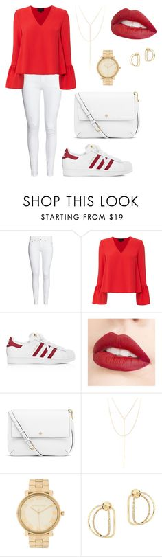 """""""😙"""" by elinevanhoutx ❤ liked on Polyvore featuring Exclusive for Intermix, adidas, Jouer, Tory Burch, South Moon Under, Michael Kors and Delfina Delettrez"""