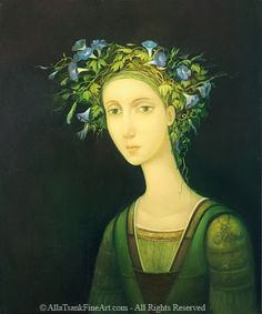 Alla+Tsank_girl_with_morning_glory_artodyssey.jpg (375×450)