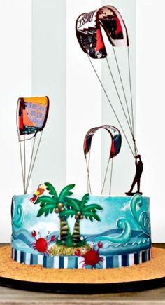 Kite surfing Cake