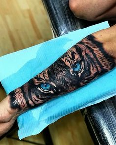 125 Best Arm Tattoos For Men: Cool Ideas + Designs Guide) Tiger Eyes on Inner Arm Tattoo - Best Arm Tattoos For Men: Cool Upper, Lower, Inner, Front, Back and Side Arm Tattoo Designs and Ideas For Guys Tiger Eyes Tattoo, Tiger Tattoo Sleeve, Lion Tattoo Sleeves, Tiger Tattoo Design, Best Sleeve Tattoos, Tattoo Sleeve Designs, Tattoo Designs Men, Lion Arm Tattoo, Outer Forearm Tattoo