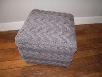 Un tricot pour votre pouf