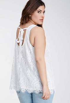 Embroidered Floral Lace Top | FOREVER21 PLUS - 2000096992