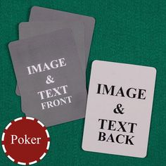 High quality blank playing cards are great for using to make flash cards or for making your own playing card games by printing or drawing on the plain sides Blank Playing Cards, Custom Playing Cards, Playing Card Games, Custom Cards, Blank Cards, Online Card Maker, Online Cards, Make Flash Cards, Custom Promotional Items