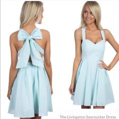 Lauren James Livingston Dress This dress is in excellent condition! I purchased from another buyer on here. New without tags.  Smoke free ❌NO TRADES❌ Need to sale to purchase a different color I need and size for a wedding next month.  Price is firm. Color: Mint/white. Fully lined. Serious buyer? Make a reasonable offer through the offer button-------------------------------> Vineyard Vines Dresses Mini