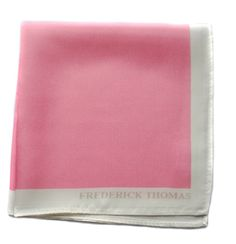 pale pink pocket square with white edging