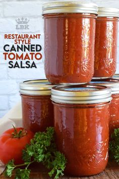 Unlike store-bought chunky salsa, Restaurant Style Canned Tomato Salsa, sometimes called Blender Salsa, is a smooth condiment that lends itself to more than just a dip for chips! #salsa #blender #canning #restaurant #style #smooth #homemade Salsa With Canned Tomatoes, How To Can Tomatoes, Mexican Food Recipes, Dessert Recipes, Party Recipes, Blender Salsa, My Salsa, Canning Salsa, Chunky Salsa
