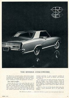 1963 Buick Riviera Advertising Car and Driver Magazine April 1963
