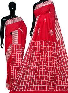 Printed Sarees, Printed Blouse, Printed Cotton, Cotton Sarees Online, Indian Designer Sarees, Batik Prints, Saree Collection, Sari, Dresses For Work
