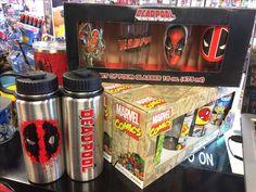 Deadpool beverage containers Marvel Hero beverage containers Night Flight Comics